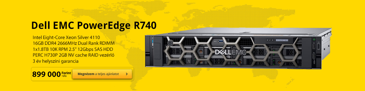 Dell EMC PowerEdge R740 rack szerver